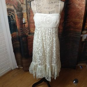 NWOT SUE WONG LACE ENMELLISHED COUTURE DRESS 6 p
